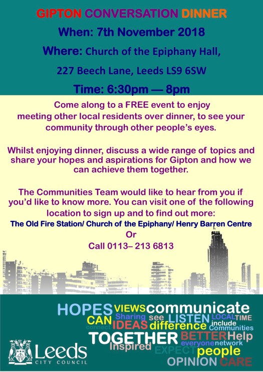 Conversation Dinner Flyer Oct 2018