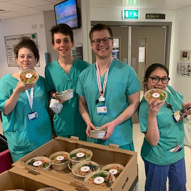 free meals for the nhs in london