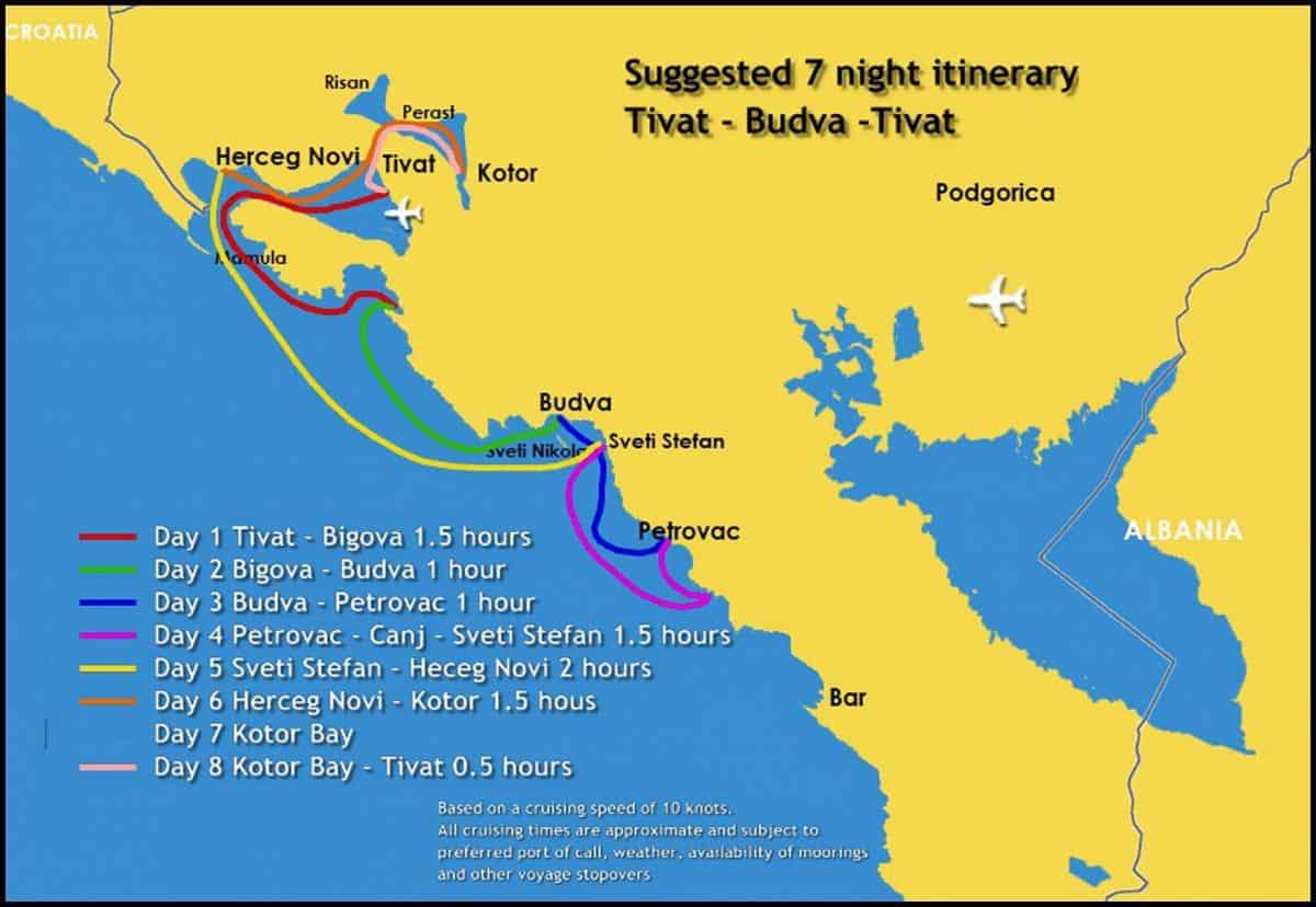 Tivat Budva Tivat East Med Yachting