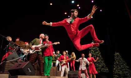 Orpheum Giveaway: Rhythmic Circus's Red & Green (Family 4-Pack)