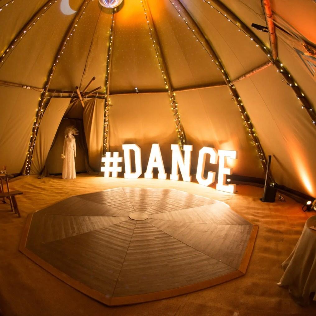 Dancefloor in the Tipi