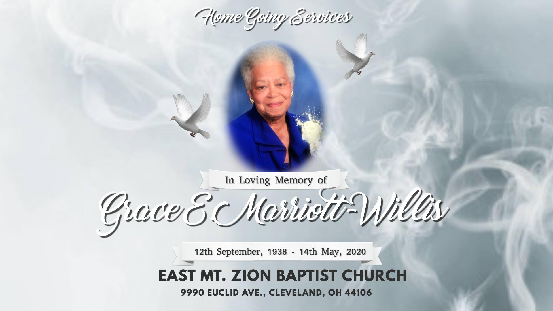 Grace E. Marriott-Willis Homegoing Banner