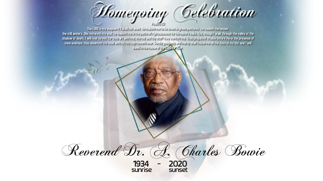 Reverend A Charles Bowie Homegoing