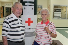 Shelter residents William and Grace Courtney of Supply, N.C.