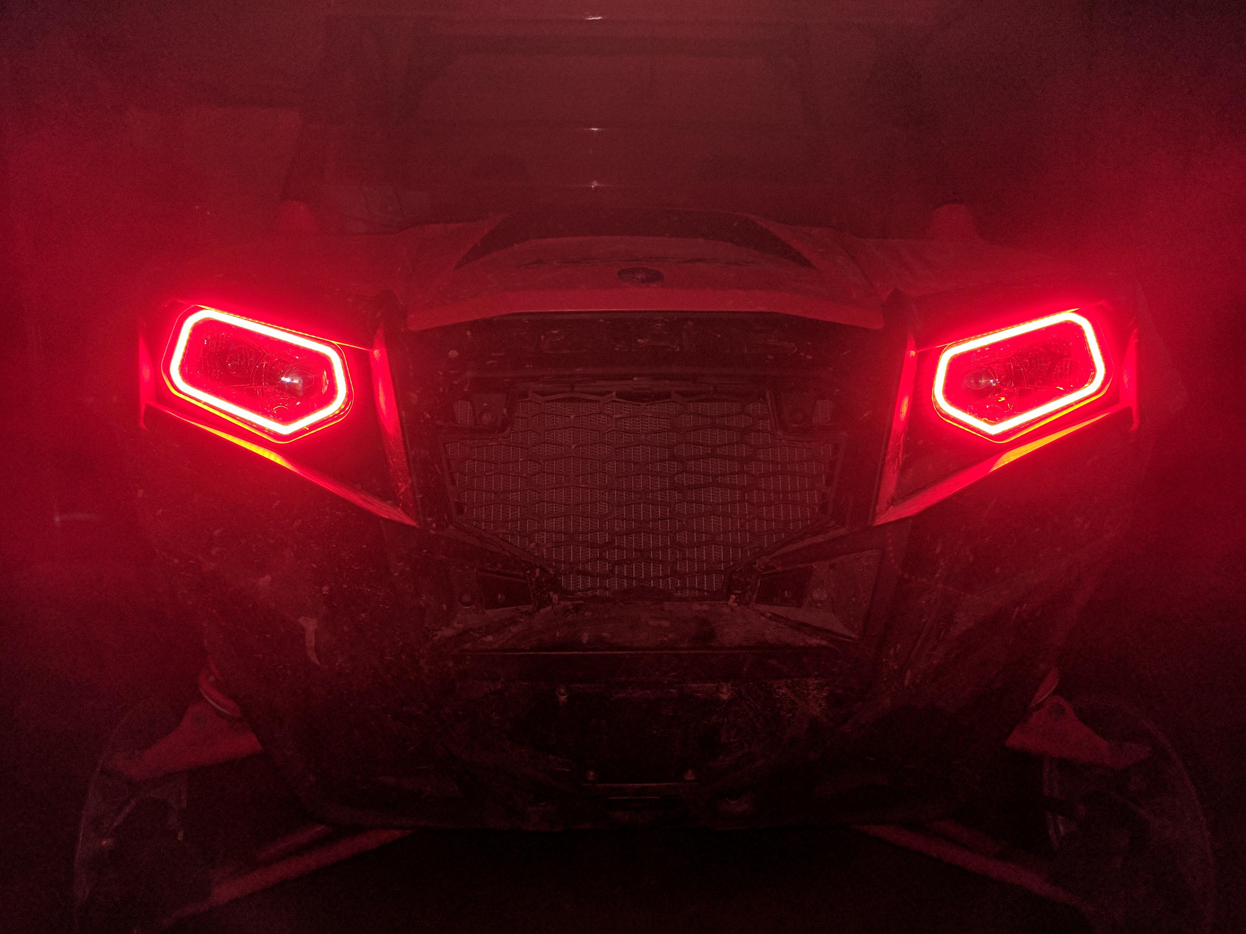 Polaris RZR 900 xp 800  570 Halo Rings set for headlights