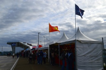 Stalls and stand at Jerez, Spain