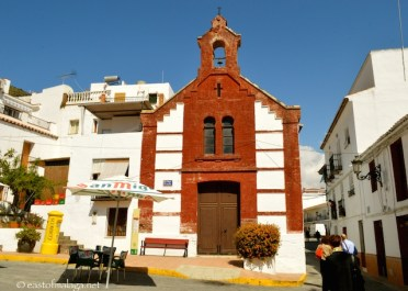 On our walking tour of Torrox, near San Roque church