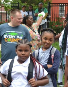 Students prepare to enter excel academy for their first day as dcps august also mayor kicks off school year at east of the river rh eastoftheriverdcnews