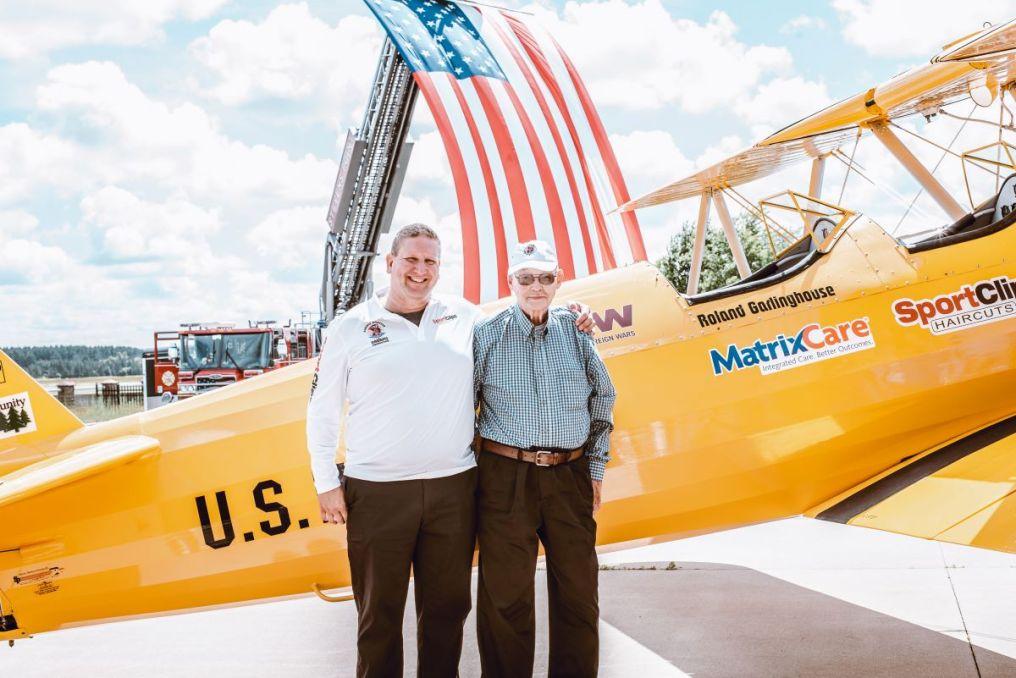 Dave Lamken and father Eddie Lamken at Spirit of Wisconsin Dedication on June 19 2019 in Stevens Point Wisconsin