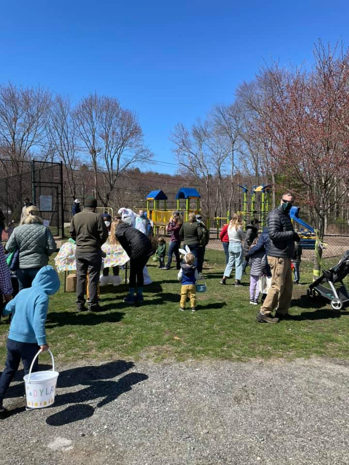 Easton Park and Rec Easter egg hunt.