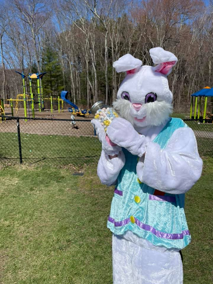 Easton Park and Rec Easter bunny.
