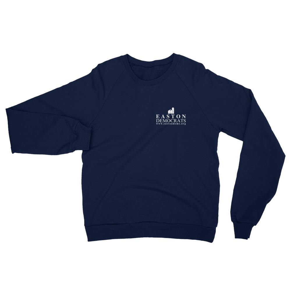 American Apparel Adult Navy Fleece Raglan Sweatshirt