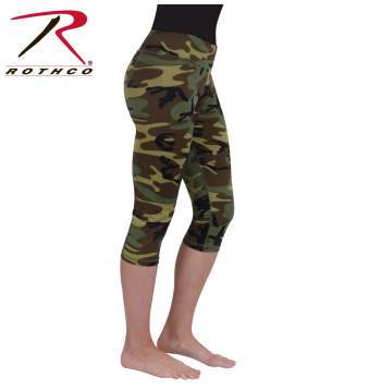 Womens Camo Workout Performance Capris