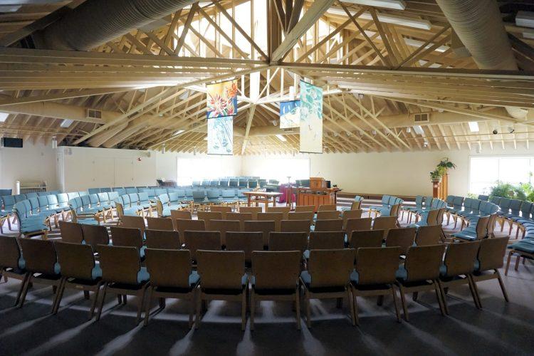 Interior of church sanctuary