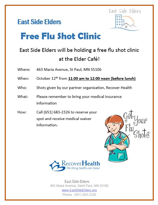 Elder cafe: October 2017 – Free Flu Shot Clinic