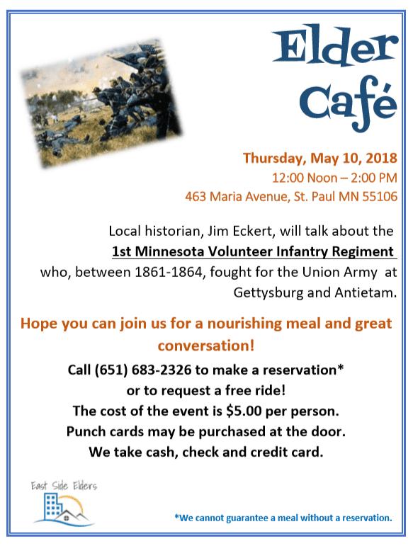 Elder Cafe Event Flyer