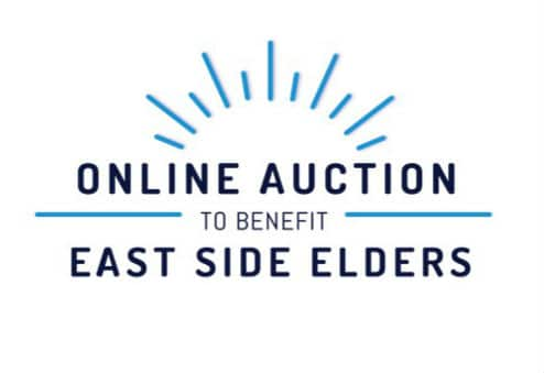 Logo reads: Online Auction to Benefit East Side Elders