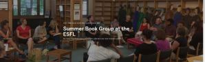 Picture of book club at East Side Freedom Library