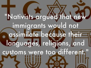 Navitism definition with religious symbols in background