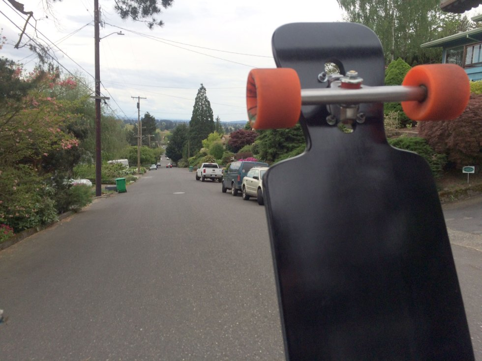 More test riding down the Eastside of Mt.Tabor.