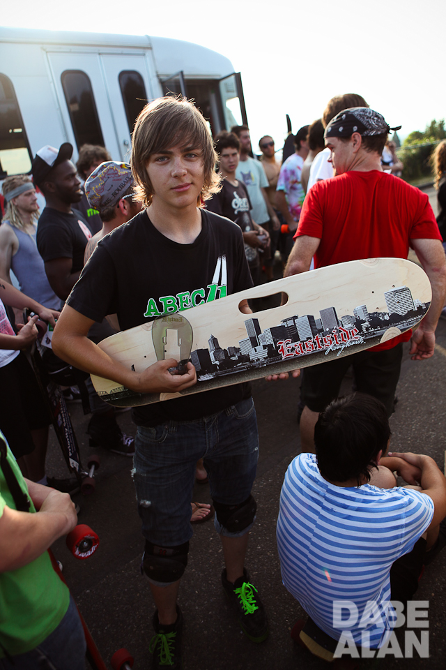 Oregonian Brandon Desjarlais as a grom winning the Tabor board in 2011. Photo by Kroll Images.