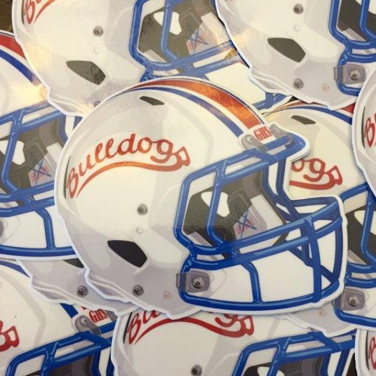 Garfield Bulldogs Football Helmet 1993
