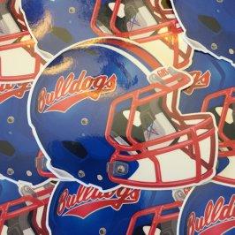 Garfield Bulldogs Football Helmet 1996