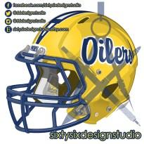 Montebello Oilers Football Helmet
