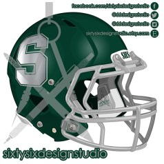 Schurr Spartans Football Helmet
