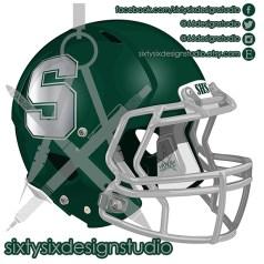 Schurr Spartans Football Helmet