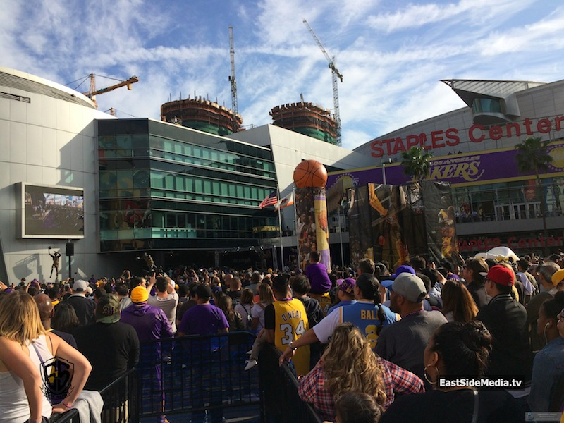 Shaq Statue unveiled outside Staples Center