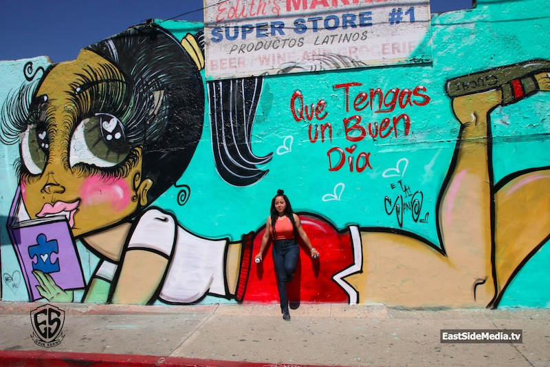 Artist Sand Oner Paints Maria in East L.A