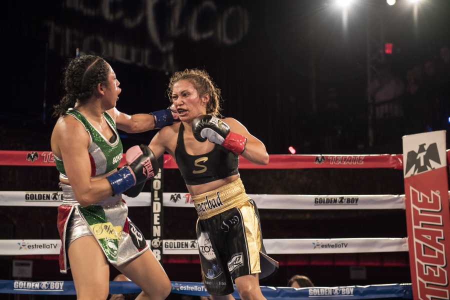 Seniesa Estrada Wins Her Golden Boy Debut