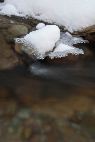 Fargo Brook snow and ice...