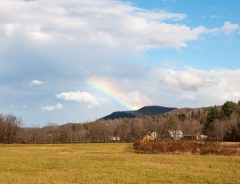 A fine rainbow broke out late yesterday morning...