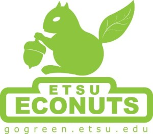 The Department of Sustainability sponsors the ETSU EcoNuts. EnoNuts work to raise awareness in the residence halls, and they help make the halls environmentally friendly. Contributed by: gogreen.etsu.edu