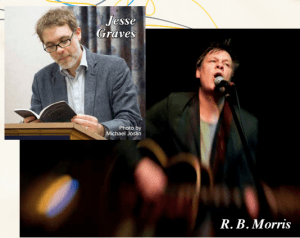 Poet and songwriter R.B. Morris and ETSU professor and poet in residence, Jesse Graves will present an Evening of Poetry and Music at the Willow Tree Coffeehouse at 8:00 p.m. on April 12 for $5. (Contributed)