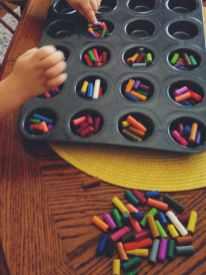 Making Toddler Friendly Crayons