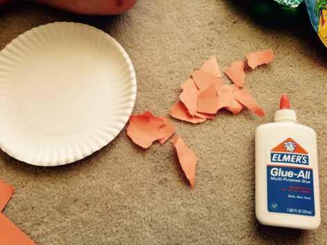 Supplies for A Fun Pumpkin Craft for Young Children