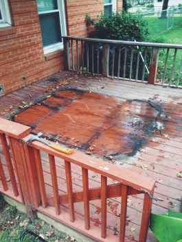 Old hot tub deck ready to be taken apart