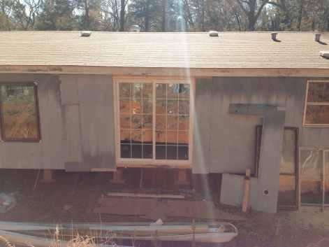 Sliding door - Mobile home Renovation
