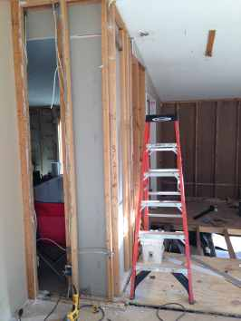 master bathroom framing.