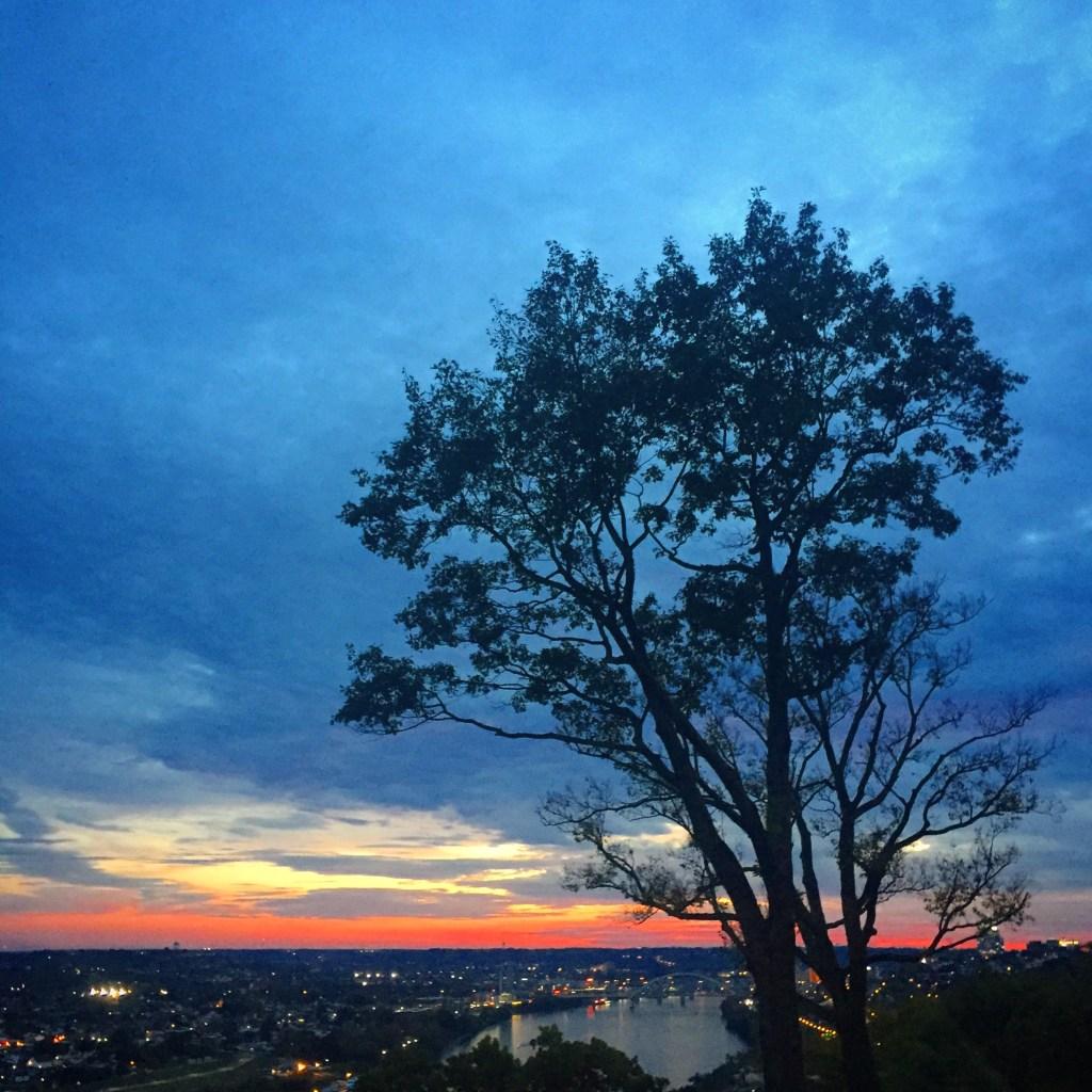 scenic overlook in East Walnut Hills, Cincinnati