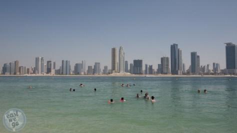 Al Mamzar Beach Park view over Sharjah