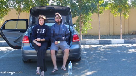 Picnic on the way to Muscat