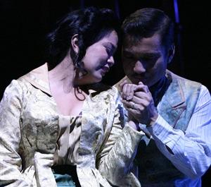 "Melody Butiu and Jon Jon Briones in ""A Little Night Music"" (2012). Photo by Michael Lamont."