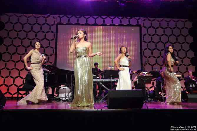 The Mama Bares performing at East West Players' Golden Anniversary Visionary Awards Dinner and Silent Auction on April 20, 2015 at the Universal City Hilton. Photo by Steven Lam.