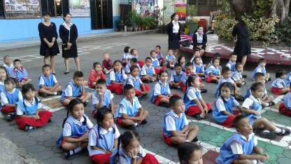 Kindy students