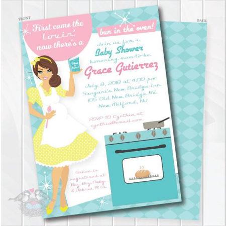 Bun in the Over printable baby shower invite