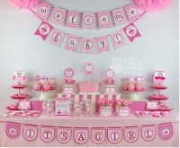 Digital owl baby shower kit for girls